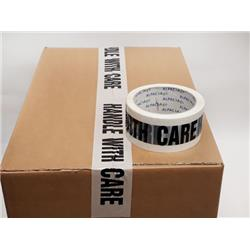 Printed Tape HANDLE WITH CARE BOPP 48mm 66m 38mu Black/ White THB486638 [Pack 72]