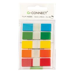 Q-Connect Page Markers 12mm Assorted (Pack of 130) Ref KF14966