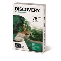 Carta A4 Discovery 75 - per stampanti e fotocopiatrici - bianca - 75 g/mq  - conf. 5 risme