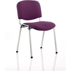 ISO Chrome Frame Bespoke Colour Fabric Tansy Purple Ref KCUP0320 [Pack 4]